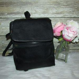 Hobo International Black Leather Mini Backpack Bag